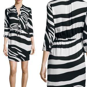 Diane von Furstenberg Freya zebra print silk dress